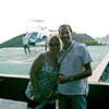 Madson & customer who took a helicopter tour (USA)